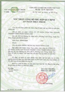 Giay chung nhan Dong trung ha thao Nong Lam 04